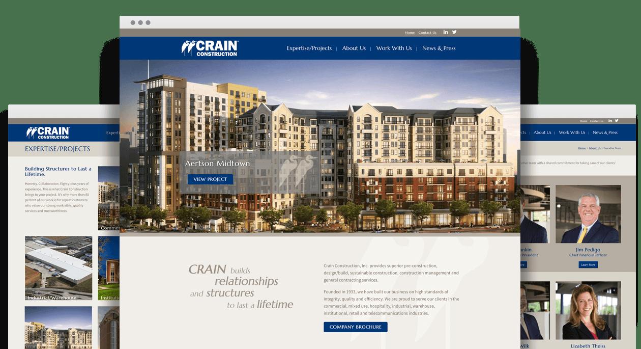 Crain Construction Website Design