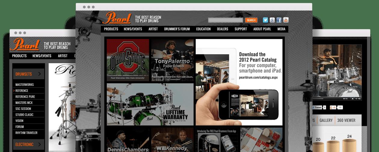 Pearl Drum Website Design