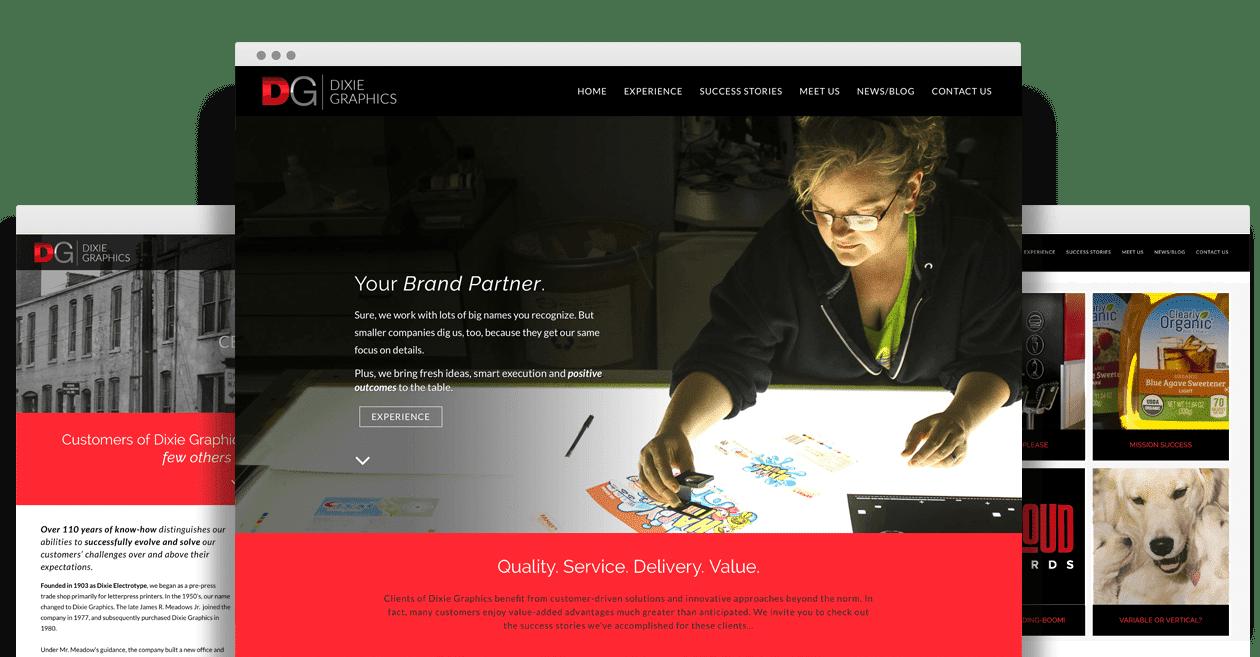 Dixie Graphics - Nashville Web Design